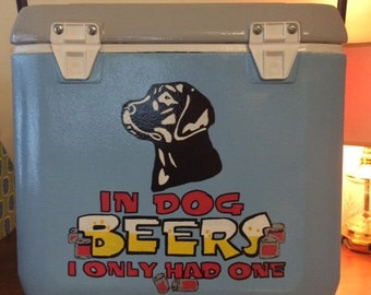 Painted Cooler, Hand Painted Cooler, Painted Cooler, Design your own, Painted Tailgate Cooler, Tailgate Cooler