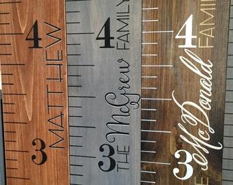 Growth Chart Wood Growth Chart Ruler Custom Growth Chart
