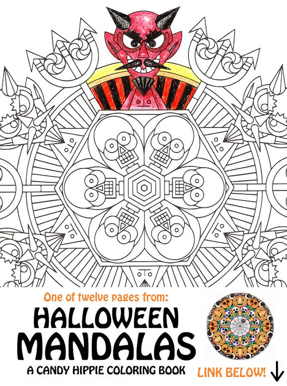 Items similar to Halloween Mandala