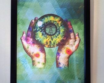 All Seeing Canvas Framed Print