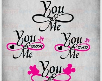 You & Me-SVG,DXF,EPS,png