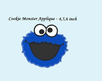 Cookie Monster Applique Design - Instant Download - Cookie Monster Embroidery