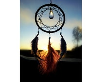 Black small Dream Catcher, Bohemian Dream Catcher, Native American Dream wall decor, Boho Wall Decor, Hippie wall hanging, car hanging