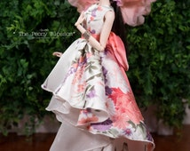 The Peony Blossom 01  - Dress for Fashion Royal FR2 & same size 12'' Fashion Doll