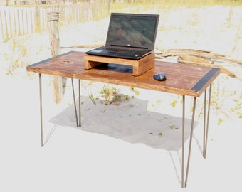 Desk, table, wood desk, computer desk, reclaimed wood desk, reclaimed wood, industrial, industrial desk, office desk, rustic, wood, modern