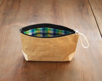 Paper bag, Small recycled Paper bag, Cosmetic bag