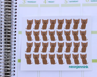 Brown Burmese Kitten Stickers