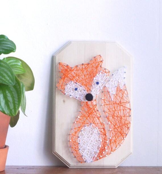 diy kit fox string art supplies pattern and by kolamaya on. Black Bedroom Furniture Sets. Home Design Ideas