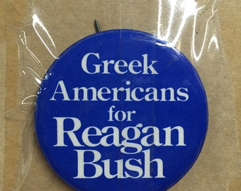 1980 Ronald Reagan & George Bush assorted campaign pins nm+ rare uncirculated 10 different