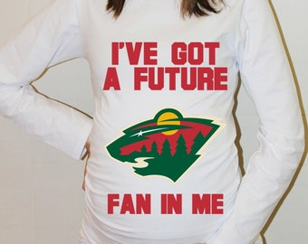 Minnesota Wild Shirt Minnesota Wild Baby Long Sleeved Hockey Maternity Shirts Funny Pregnancy Clothes