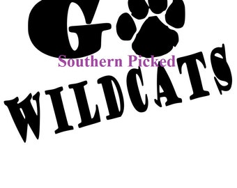 Go Wildcats SVG FIle