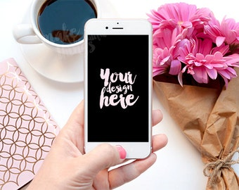 Mobile phone mockup / Styled stock photography / Instant download / Techy / #0909