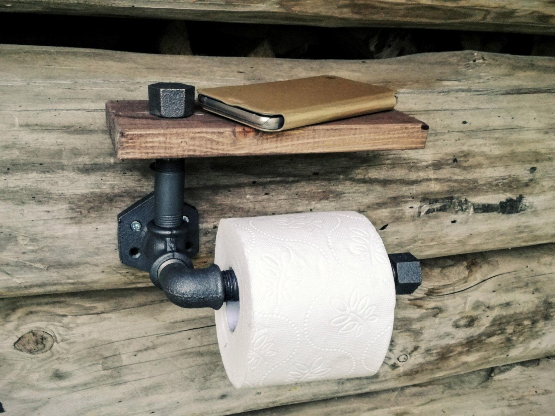 porta carta igienica con mensola industriali rustici tubo - Animali Con Tubi Di Carta Igienica