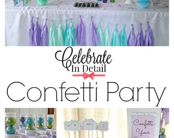 Seen on Kara's Party Ideas - Confetti Party KIT