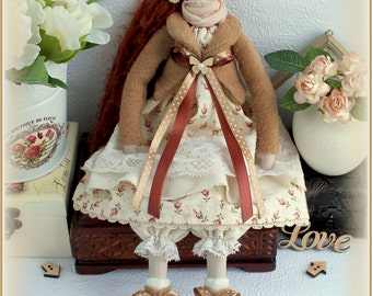 Tilda Doll -fabric doll-Cloth doll rag doll-stuffed doll-подарок для женщины девочки- soft doll-тряпичная кукла тильда handmade doll