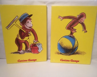 Set of Two Curious George wall decor
