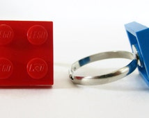 LEGO® Rings, LEGO® Jewellery, Funny Rings, Unique Rings, Modern Ring, Unisex Ring, Geeks Gift, Party bag fillers, LEGO® Birthday Party