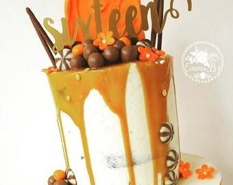 Sixteen Cake Topper