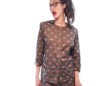 60's vintage Women's suit.Vintage Women's suit.Geometric Print Vintage Set For Women 1960s