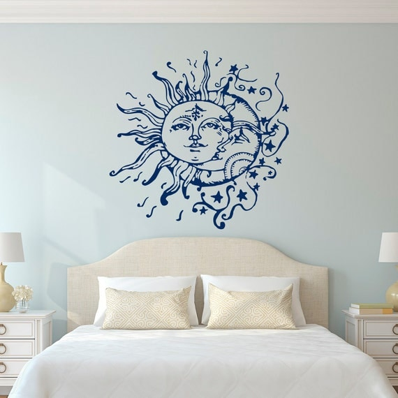 Https Www Etsy Com Listing 247073109 Sun And Moon Wall Decals For Bedroom Sun