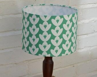 Green Lamp shade, Floral Lamp shade, Floral lampshade, green floral, Handmade Lampshade, simple home decor, floral home decor, fabric lamp