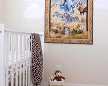 Safari nursery wall decoration, African Safari nursery, zoofari baby nursery, Safari theme house decoration, Jungle nursery decoration.