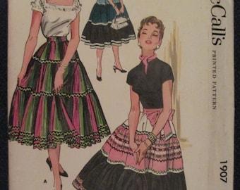 Vintage 1950's McCall's Skirt Pattern