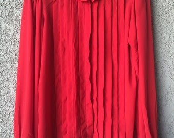 Red Zinnia blouse
