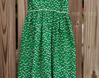 SIZE 5t Dress, Maxi Dress, green dress, little girl dress, handmade