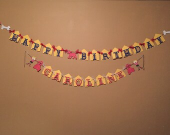 Clifford The Big Red Dog Banner - Clifford Banner - Happy Birthday Banner - Name Banner