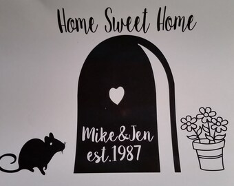 Mouse Door Personalized Decal