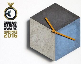 cubeclock   wallclock made of concrete