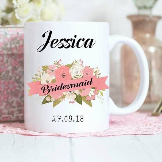 Mug, Personalised gift, Bridal party gifts, wedding mugs, Gifts ...