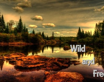 Inspirational Photo, Photographic Sunrise, Outdoor Photography, Landscape Art, Mountain Photo, Wild and Free, Nature Print, Adirondack Lake