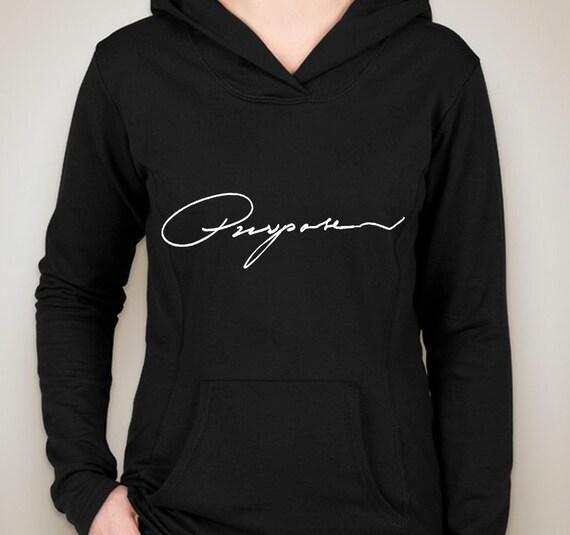 justin bieber purpose hoodie sweatshirt by shoptrainwreck. Black Bedroom Furniture Sets. Home Design Ideas