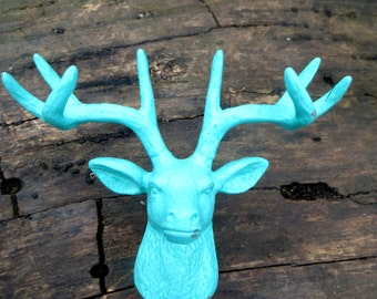 Deer Knob - 32 Colors - Shabby Chic - Rustic - Deer Bust - Faux Taxidermy