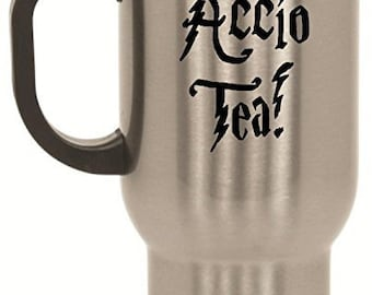 ACCIO TEA Funny Harry Potter Tea Cup Coffee Mug for Wizards by BeeGeeTees