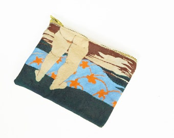 Hand Painted Change Naked Bum Purse Batik  Coin Purse Gag Gift