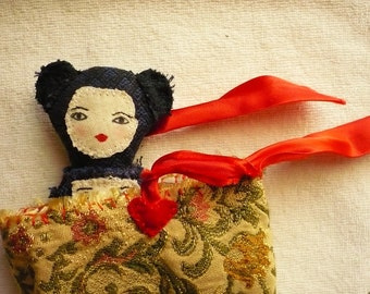 Doll with purse