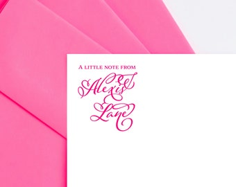 Note Cards Personalized Stationery Set Personalized Stationary Set Custom Stationary Flat Notecards Personalized Notecards Custom Stationery
