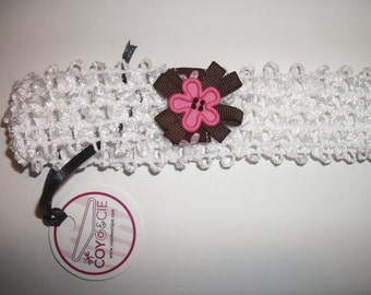 White elastic headband