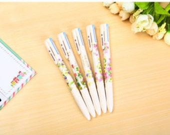 4 in 1 Colored Ballpoint Pen Floral