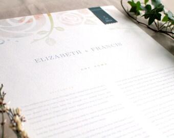 Unique Wedding Gifts Ottawa : ... gift wedding vow print elizabeth personalized wedding gift couple gift