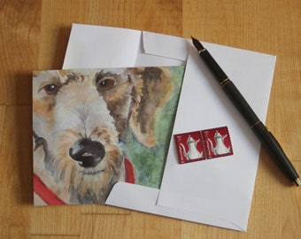 Goldendoodle Note Card Blank Golden Doodle Watercolor Notecard Dog Thank You Birthday Greeting Cards Invitation Pet Sitter Animal Lover K9