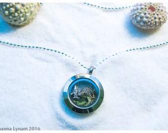 """Gnome locket necklace. Gnome charm necklace. Gnome necklace. gnome gift. 18"""" solid sterling silver ball chain. gnome jewelry. waldorf gift"""