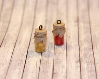 Mom's Homemade Mini Jam Jar Charm Necklace