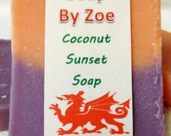 Traditional & Natural Handmade Cold Process Coconut Sunset Artisan Soap