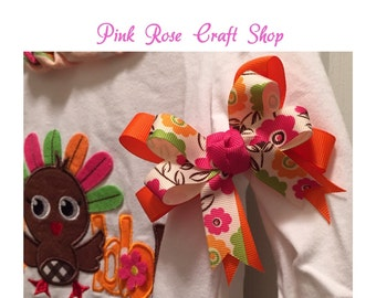 Two-Layer Hair Bow with Tails