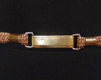 REDUCED - Vintage Gold Skinny Elastic Belt - 1950's Made in West Germany