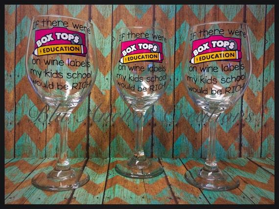 Teacher Gift Box Top Wine Glass Teacher Appreciation